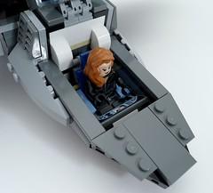 6869 Quinjet Cockpit with Black Widow