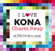 I Love Kona Charm Swap at Pile O' Fabric