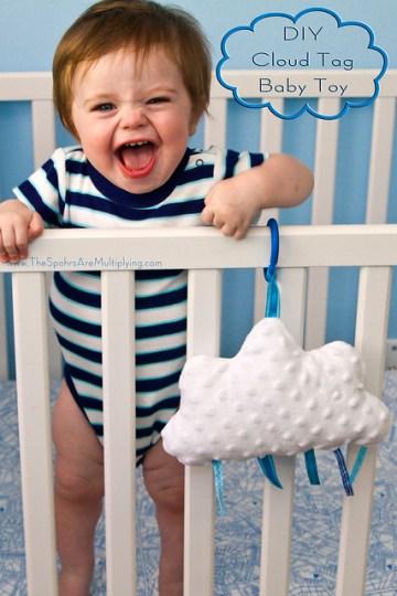 DIY Cloud Tag Baby Toy