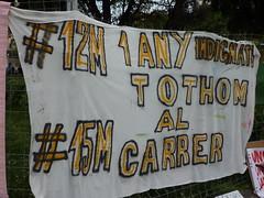 Pancarta 1 año de 15M