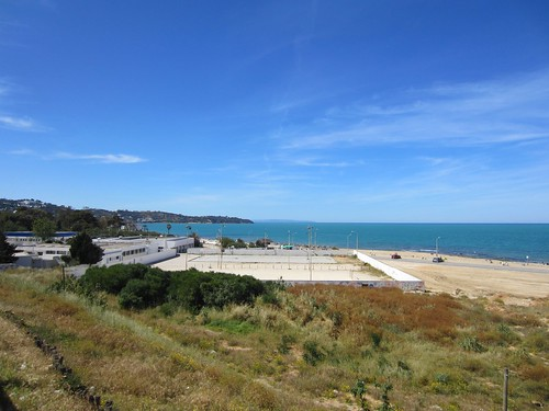 the beach in tunis