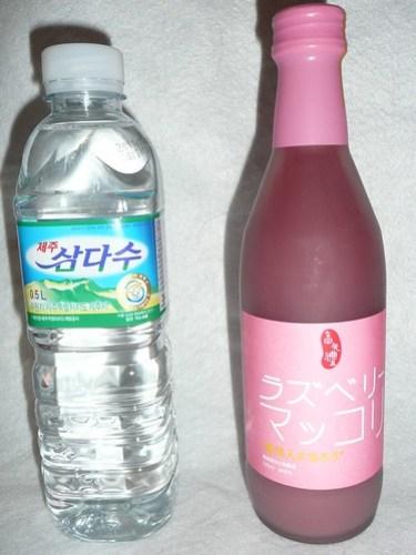 三多水とラズベリーマッコリ