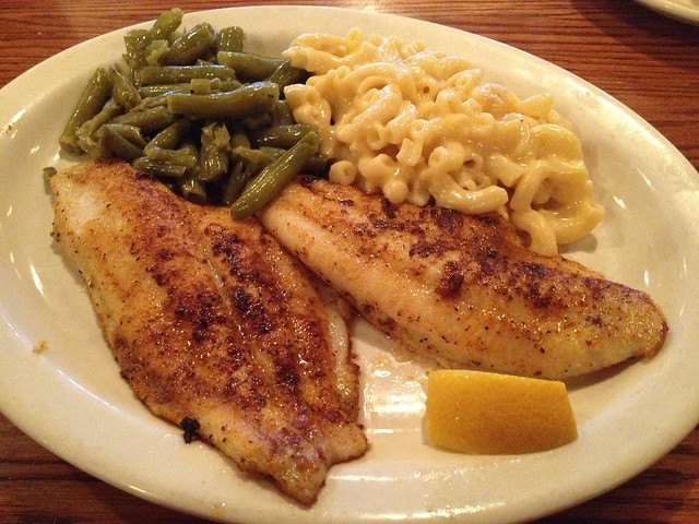 Spicy grilled catfish - Cracker Barrel