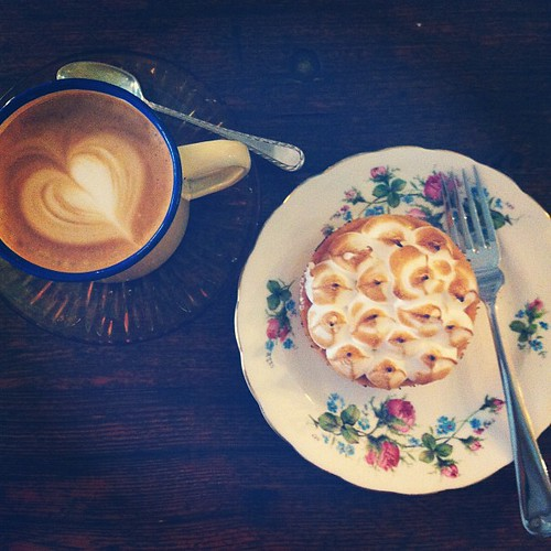 Latte and passionfruit meringue tart from Carpenter and Cook