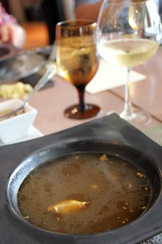 Spanish Garlic and Pimenton Soup at 22 Prime