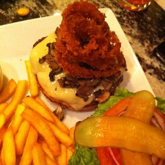 Mushroom burger @ the cask wine & cheese bar