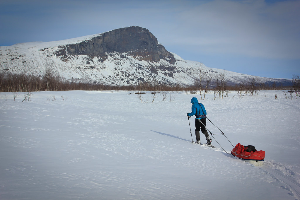 SKierfe (1179m), a sheer 700m cliff... pride guard of Sarek