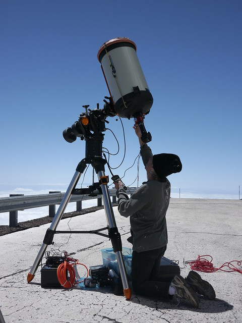Shooting the Solar Eclipse from 4205 meters