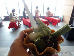 Macha Azuki ice cream in sky tree, まちゃ あずき