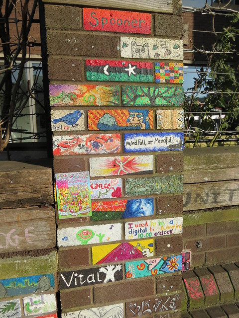 Decorated bricks in Stokes Croft