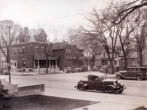 David W. Schaeffer home, 240 N. Ludlow, is the large house on the corner (far left) of this photo.