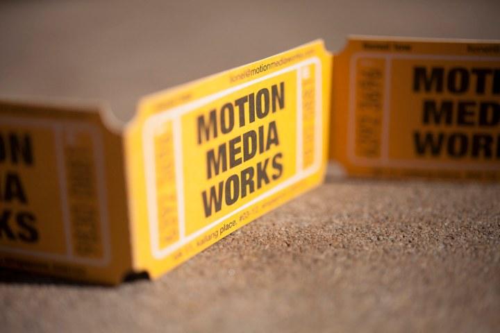 Motion Media Works Business Card Design