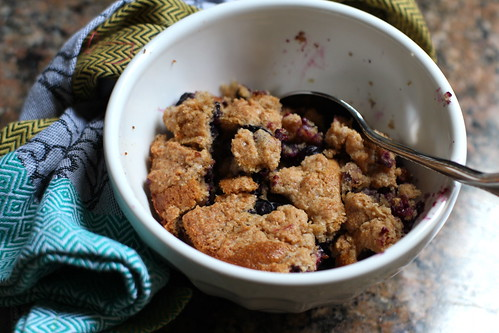 multigrain blueberry buckle