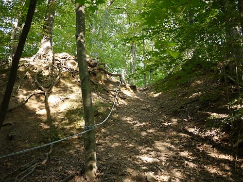 a steep slope