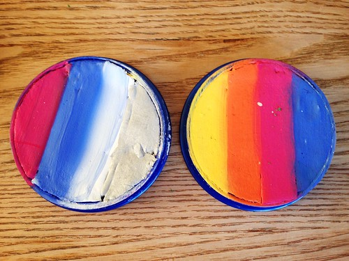Homemade rainbow cakes