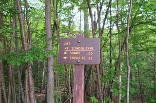 Tecumseh Trail Ski Area Sign