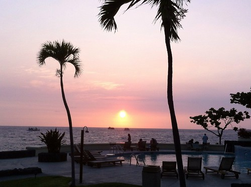 Sunset at Kailua-Kona, Big Island, Hawaii