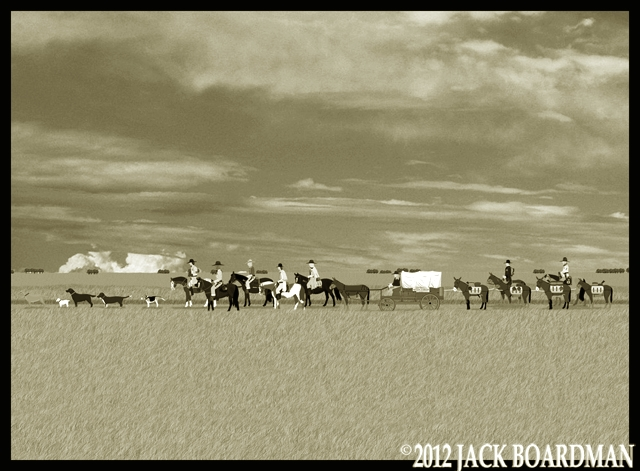 The Marshals continued along the road ©2012 Jack Boardman