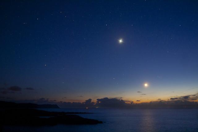 Venus & Moon Make way for Aurora