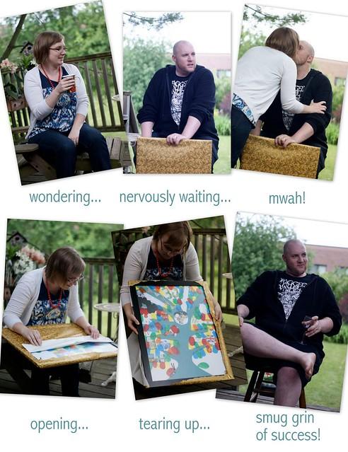 birthdya opening collage