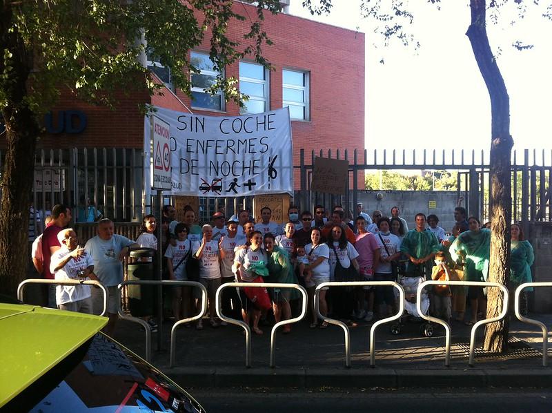 Protesta contra el cierre de urgencias en La Fortuna 2