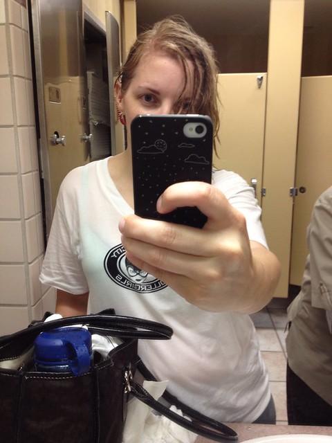Got caught in the rain, accidental wet t-shirt costume #cvg2012