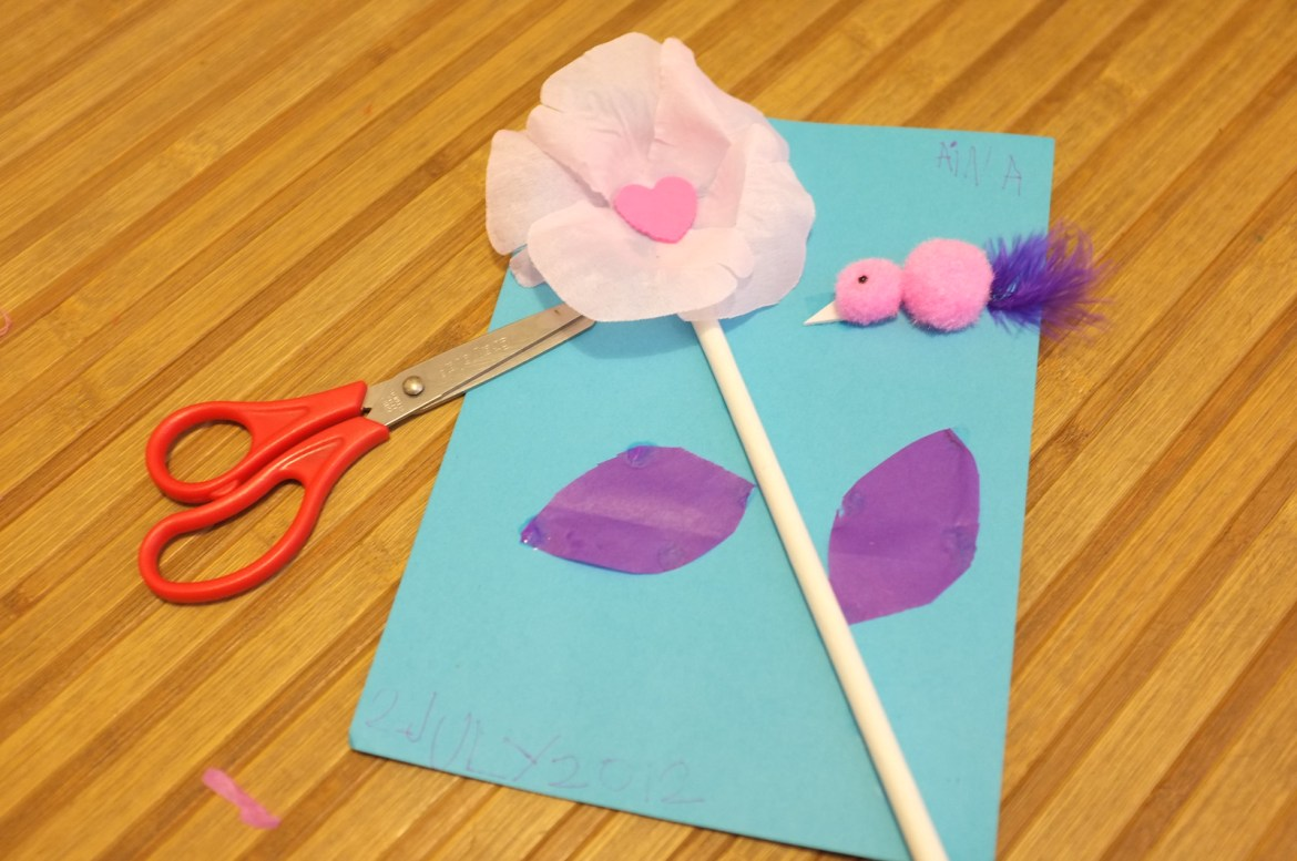 making flower collage