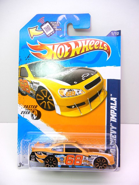 hot wheels 2010 chevy impala orange (1)