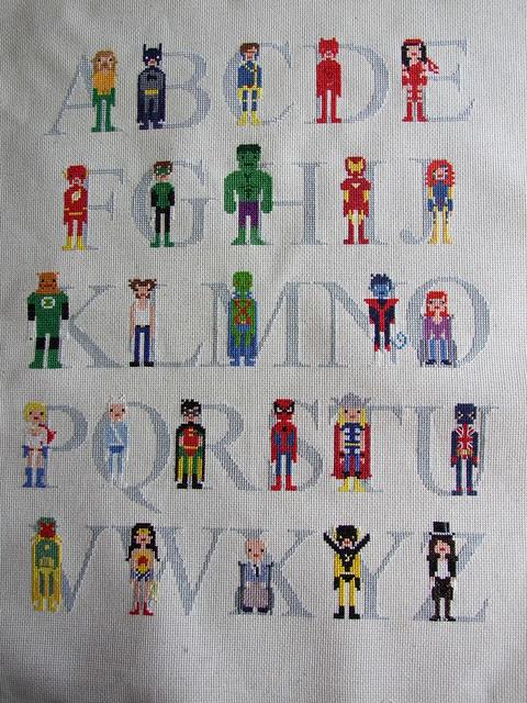 Superhero Alphabet Sampler