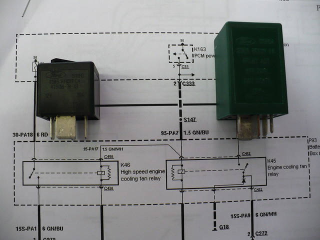 Fan Relay Wiring Diagram Electric Fan With Relay Wiring Diagram