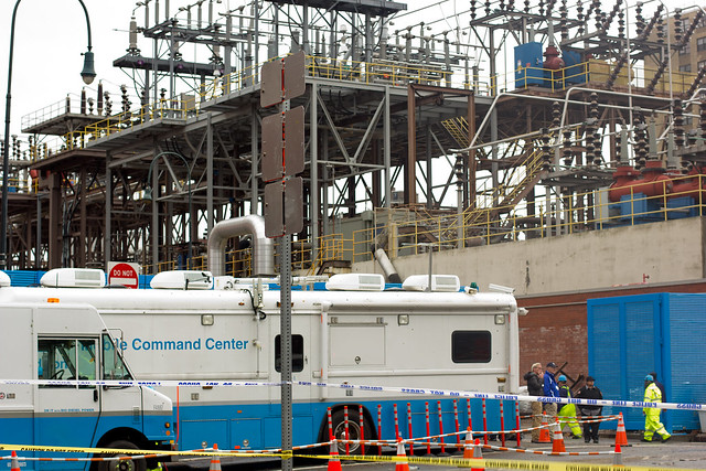 Con Edison power plant & Mobile Command Center.