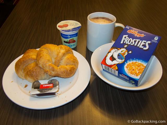 Breakfast at Safestay Hostel