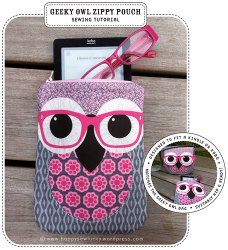Geeky Owl Zippy Pouch Tutorial