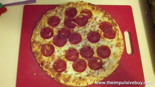 Red Baron Pizza & Sides Pepperoni Pizza & Breaded Mozzarella Sticks Closeup