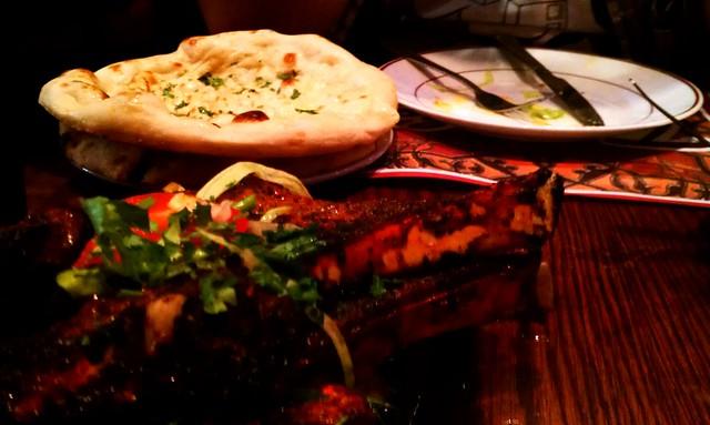 Garlic naan and Tayyab's signature lamb chops