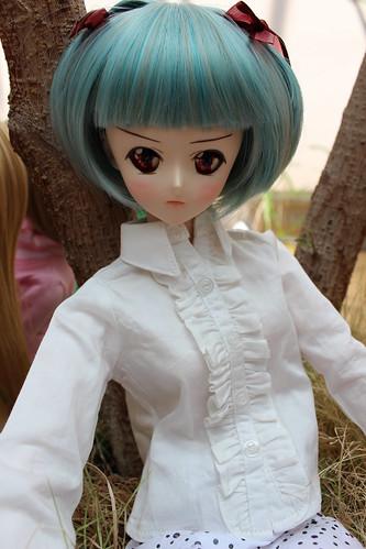 "Junslr's Akiha visiting us ^__^"""