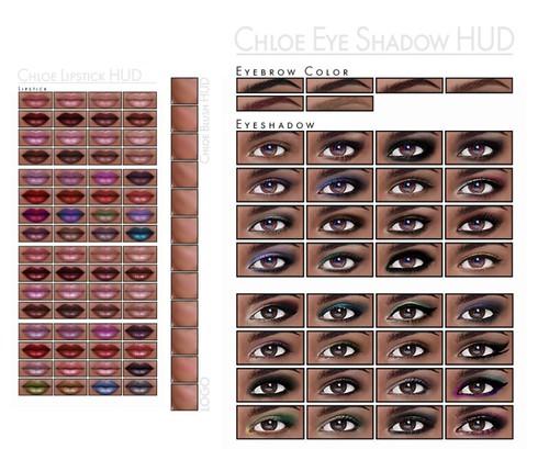 LOGO Additional Make Up HUDS Lips, Cheeks, Eyeshadows