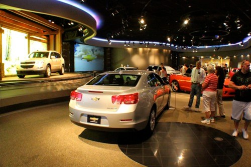 Post-show showroom - Test Track at Epcot