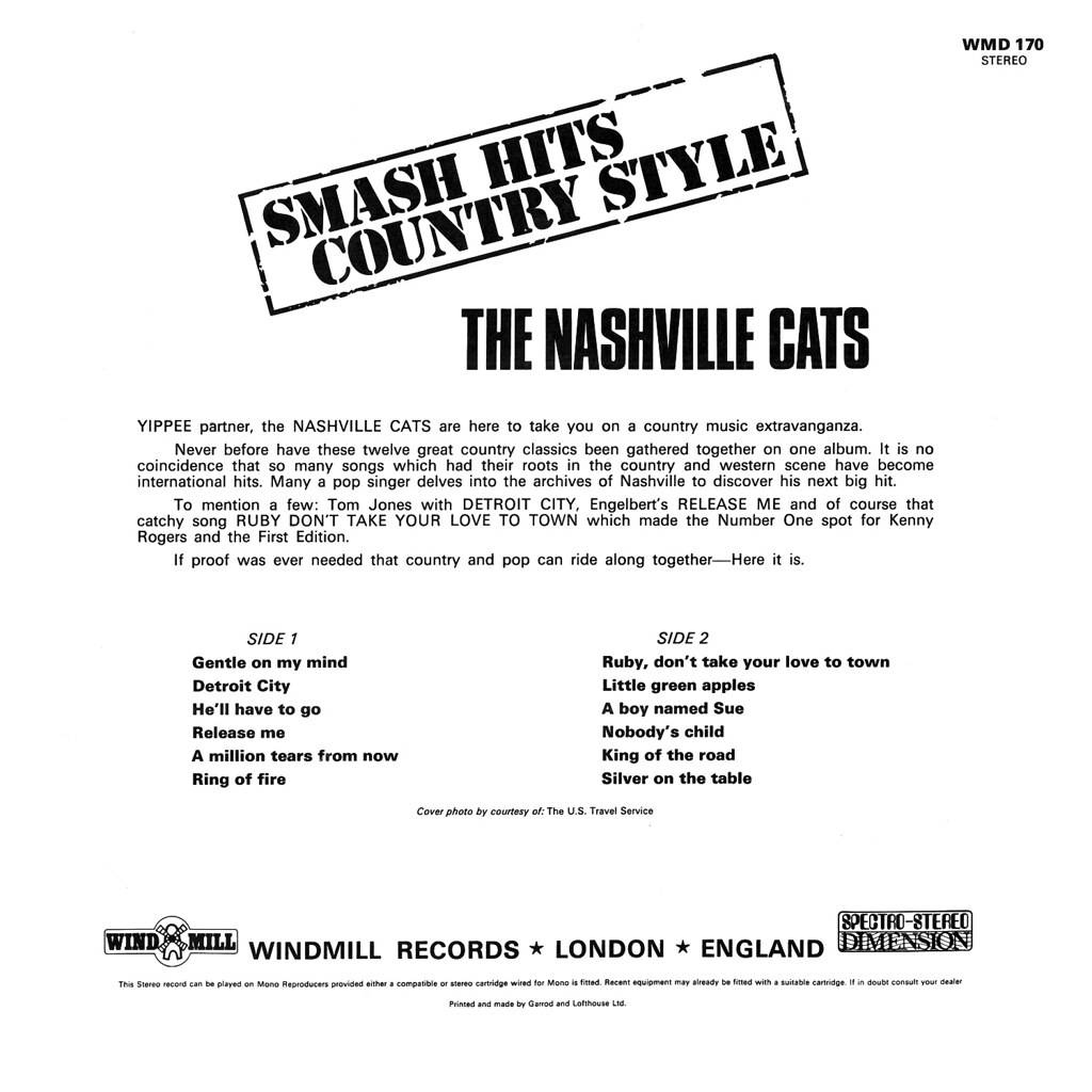 The Nashville Cats - Smash Hits Country Style