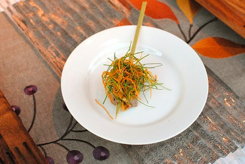 Ricardo Zarate (Mo-Chica, Picca) grilled tuna, asian pesto, camote al hilo