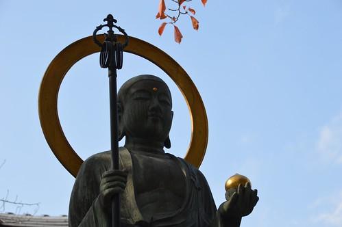 Buddha blue sky