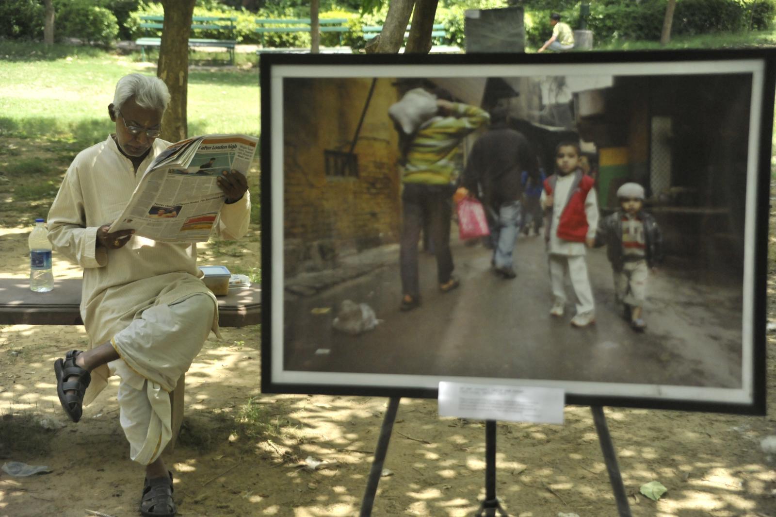 Open air gallery, New Delhi