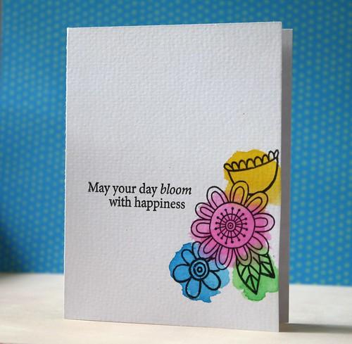 doodle flowers & watercolors by L. Bassen