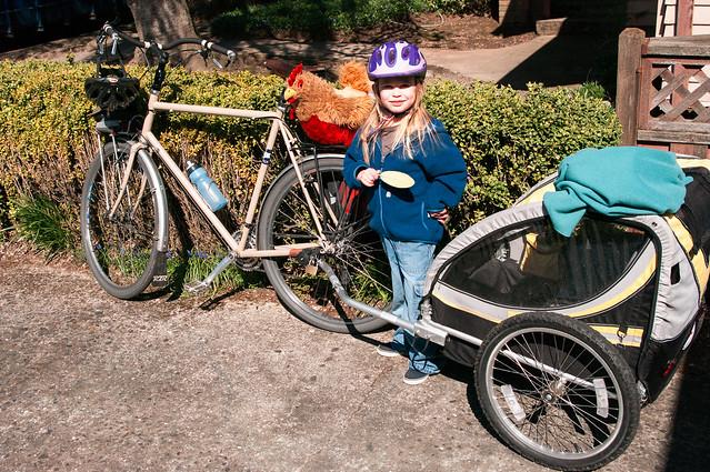 sadie and chickener bike ride 1