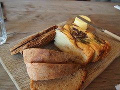 Bread, home-churned butter and Seasalter salt