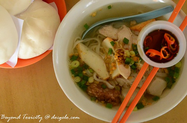 pork pau and koay teow soup