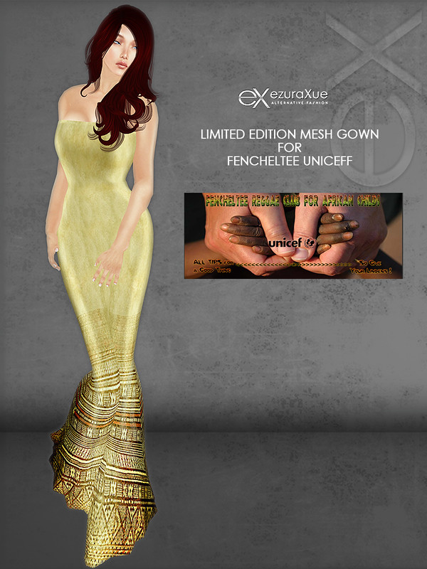 ezura + Limited Edition Mesh Gown for Fencheltee UNICEFF Event