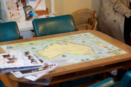 Map table - the Jack of Harts and Jude, Engadine