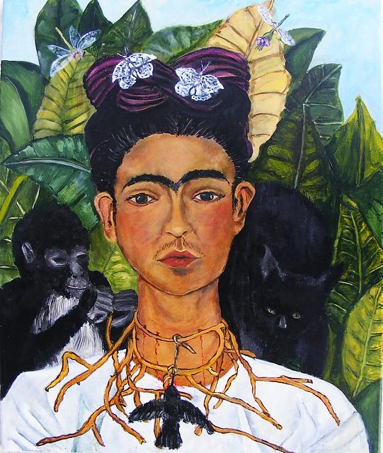 Frida Kahlo Self-Portrait 1940 Study WIP #12