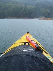 Rain on the Kayak